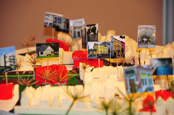 Modell des Stadtteils Aachen-Ost von Kindern gebaut